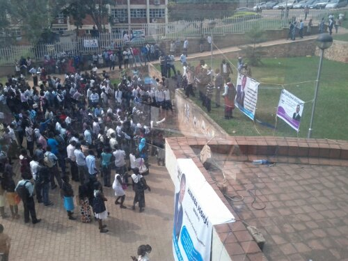 CIT Students striking at Makerere Earlier this year