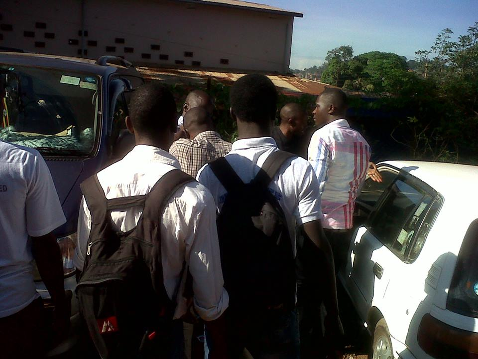 Students Around One UMEME Officer