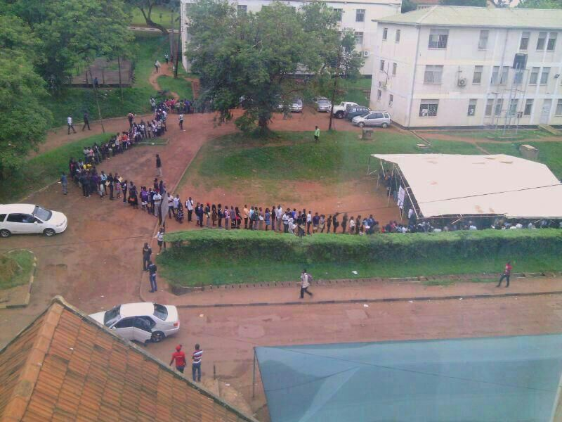 Long queues of applicants
