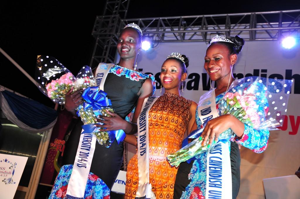 L-R; Mary Akoi, Flower Kenyangi and Yasmin Taban