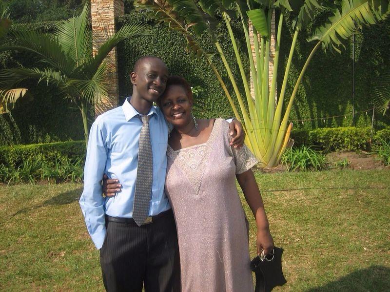 Babara with his mum Phyllis Kalimuzo