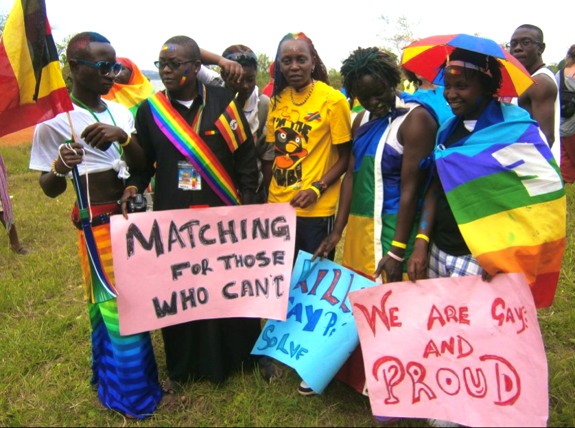 Gay pride event that was held in Entebbe
