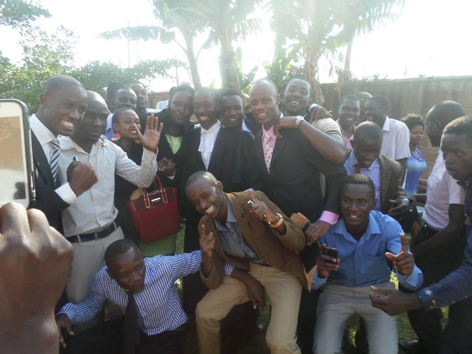 Nkumba University students celebrate victory
