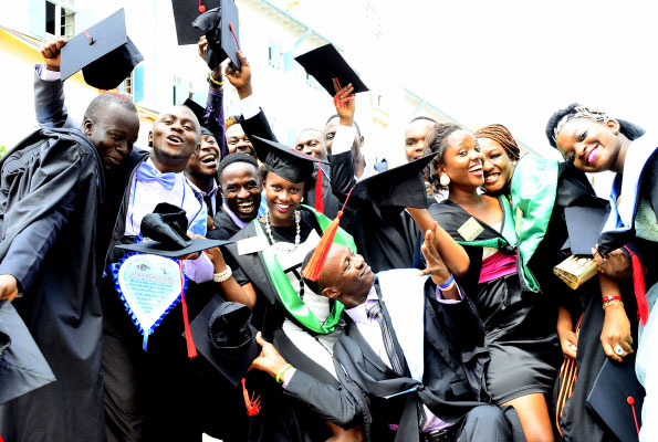 Graduands at the recently concluded 65th graduation ceremony at MUK PHOTO by Eric Dominic