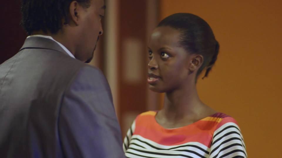 Flavia Tumusiime and Cedric Babu in one of the scenes of the TV series