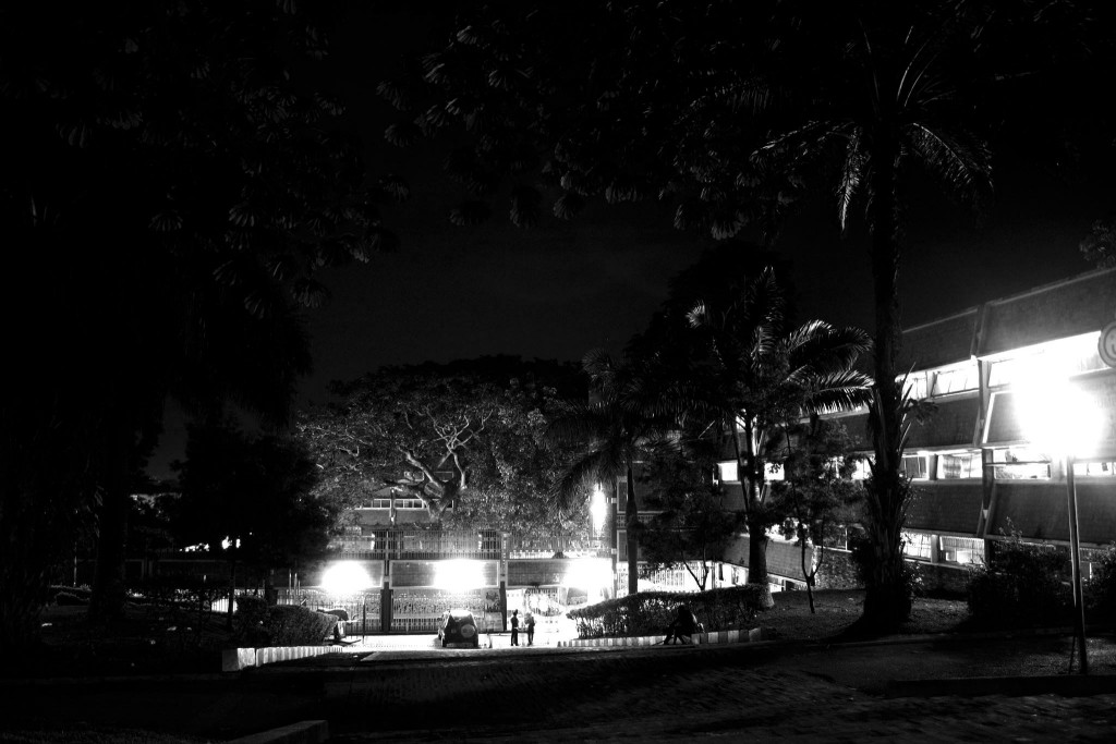 Lights bringing out an extraordinary beauty of Lumumba in black and white photography taken from the chicken house compound. PHOTOGRAPHY BY Badru Katumba