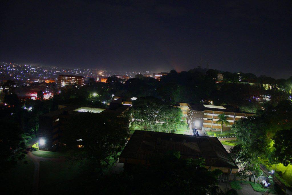 A bird's view of Lumumba at night. PHOTOGRAPHY BY Badru Katumba