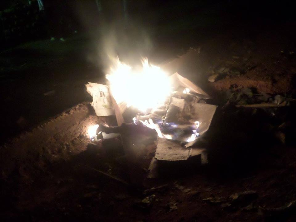 Merciless Nkurumah Hall students set the thief a blaze