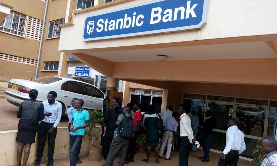 Students have stormed the Stanbic Bank, MUK branch demanding for answers,