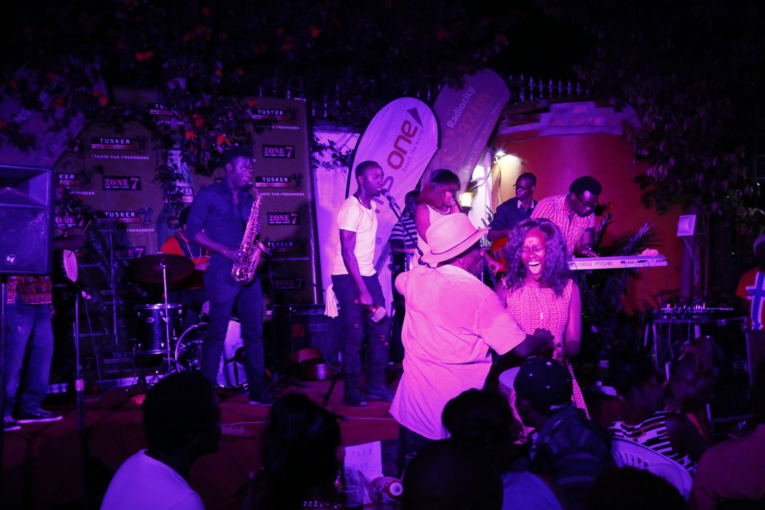 Revellers enjoy the Zanzi band at Zone 7