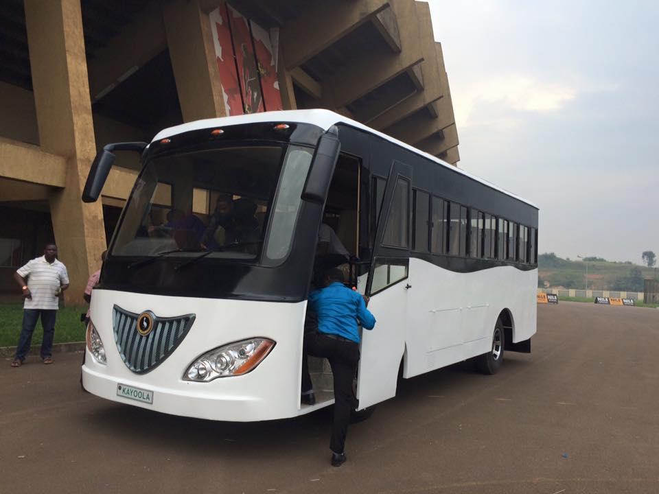Kayoola Solar Bus at Namboole