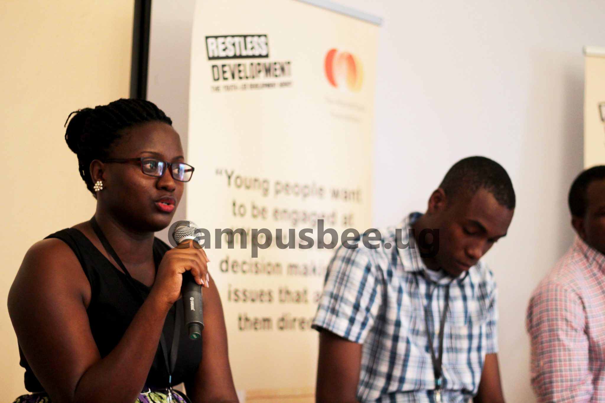 Rita Kobusingye answering some queries of the audience