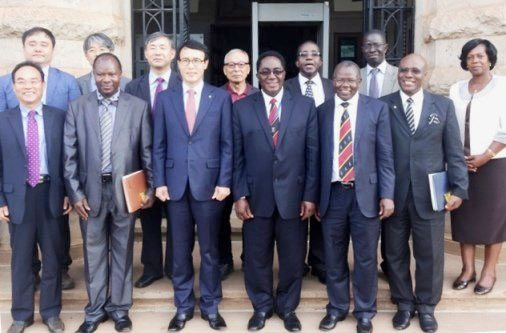Makerere and Chonbuk officials after signing the MOU
