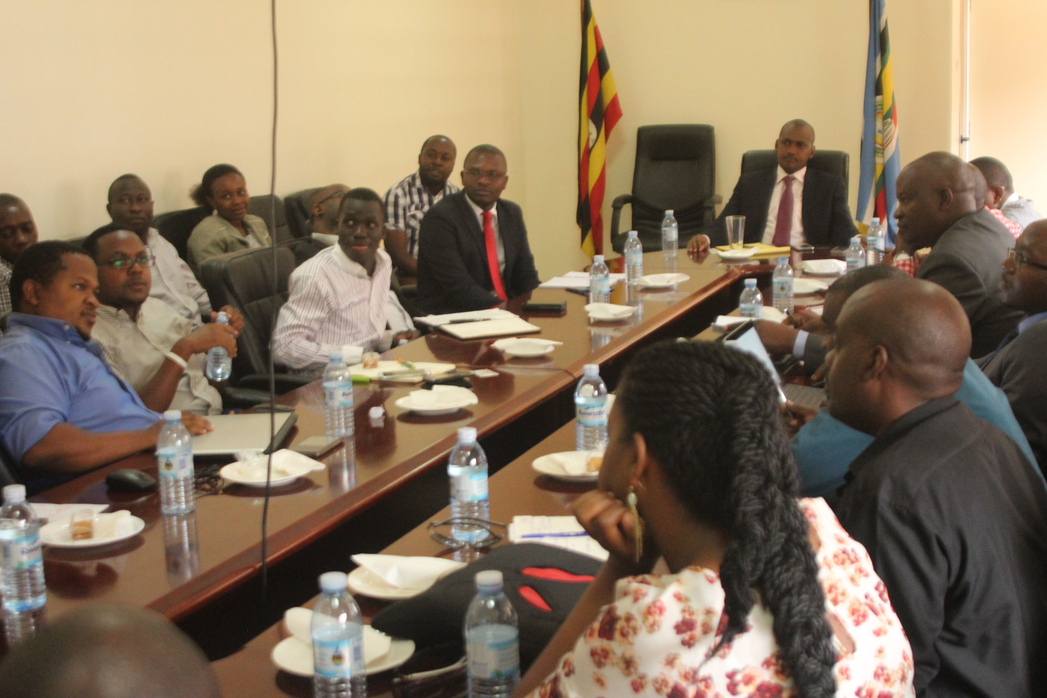 Hon Frank Tumwebaze meeting members of OMAU in September.