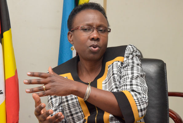 The Health Minister Dr Jane Ruth Aceng