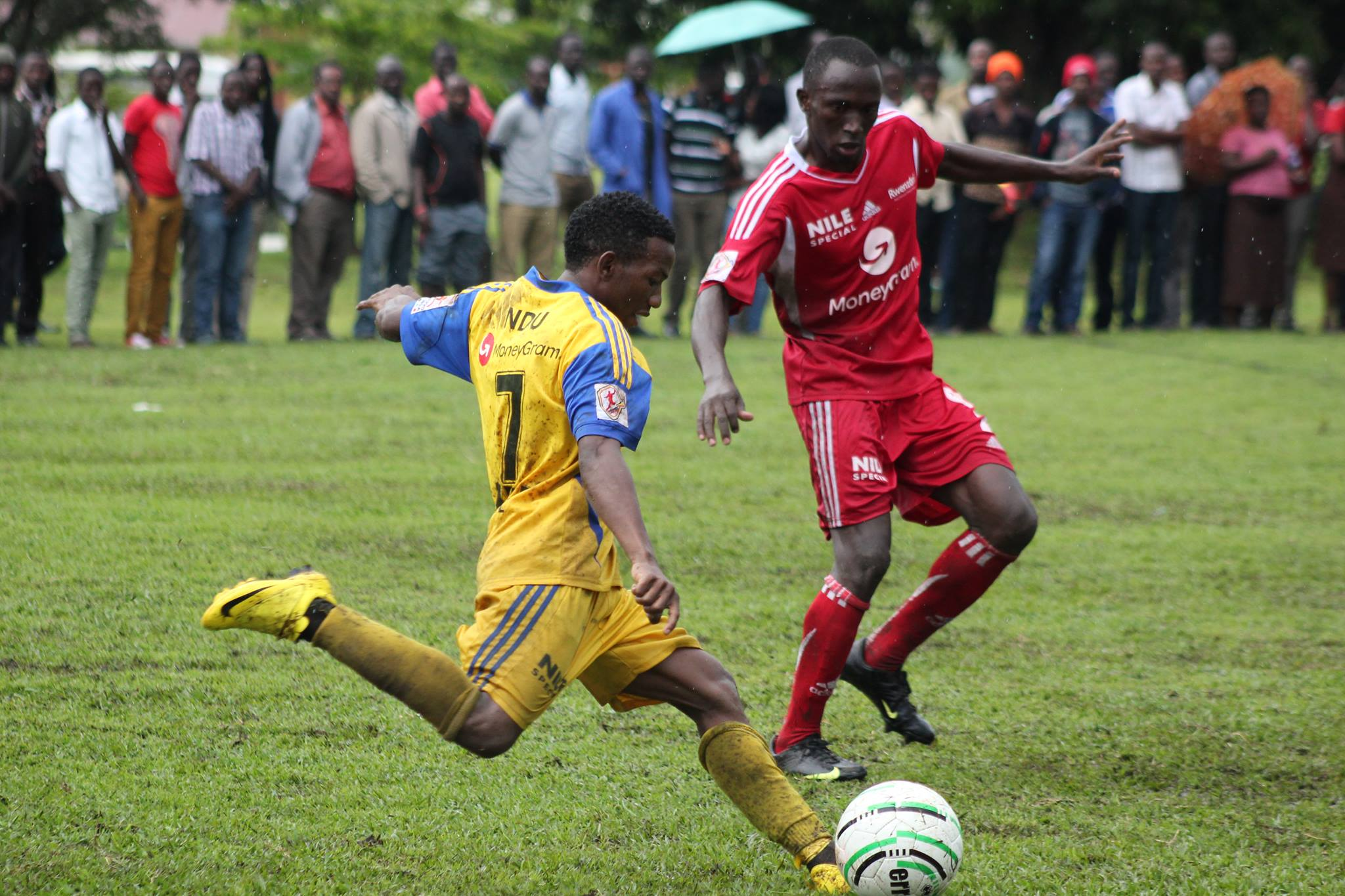 Some of the action in the group stages, Makerere Vs Ndejje