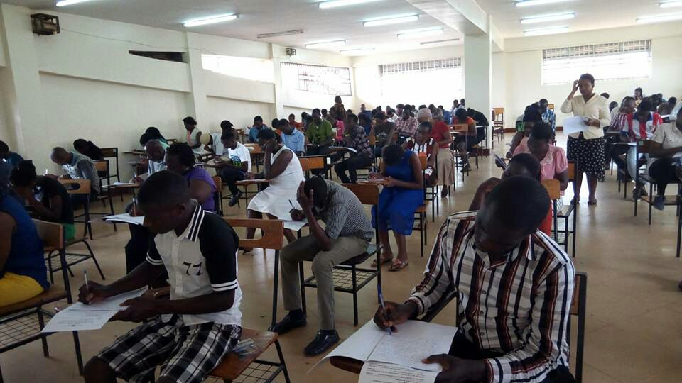 Students doing exams that they missed last semsetee due to a strike. It's during that strike period that they were supposed to go for training