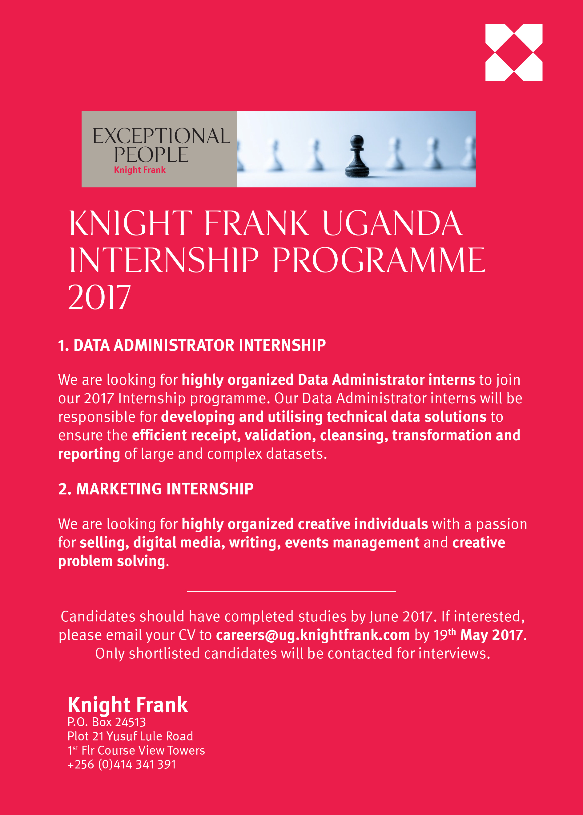 internships available at knight frank apply now