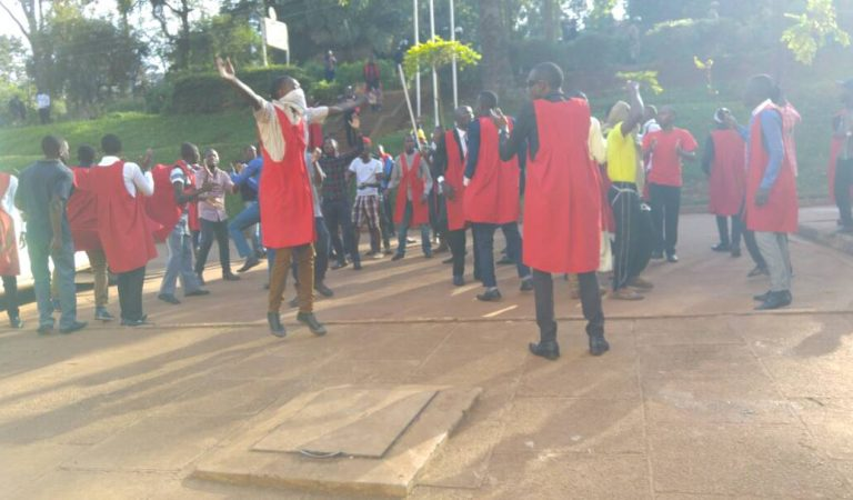 [Photos] Empty Lecture Rooms, Heavy Police Deployment In Makerere Ahead Of Age Limit Demonstration