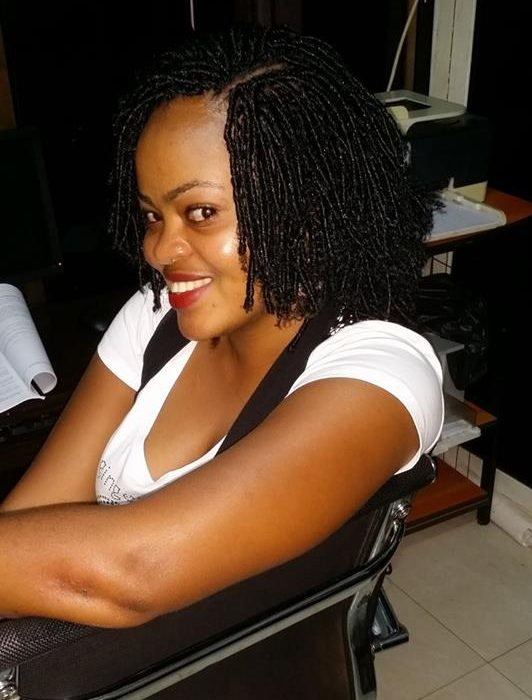 Ainembabazi Pamela in her office.