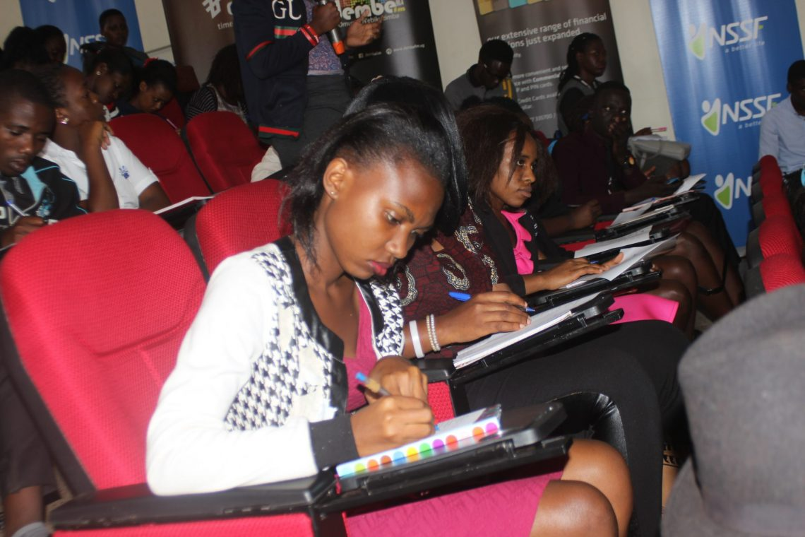 Students attending the first session of #NSSFMPLExpo18