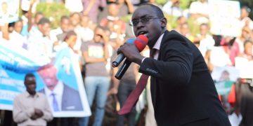 2016 Makerere Guild aspirant Mwotta campaigning (File Photo)