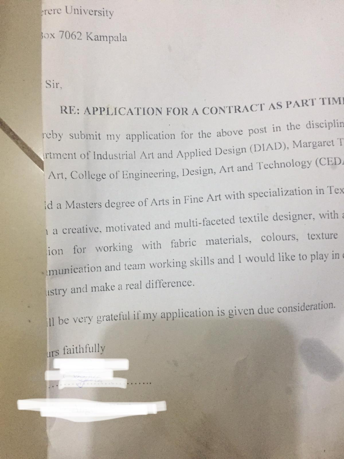 makerere university masters graduate cv used to pack fries