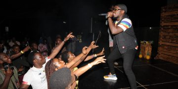 Ykee Benda Performing at the UG Maverick Cocktail Fiesta