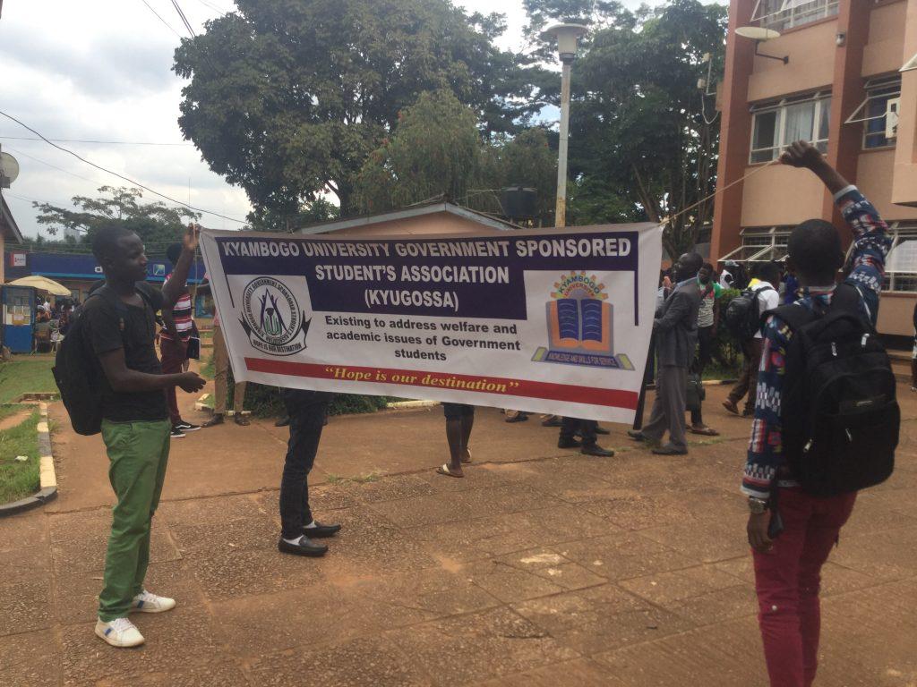 Kyambogo University Government Sponsored Students Demonstrate Over Delayed Allowances. 3