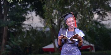 Student at the 70th graduation of Makerere University in January 2020.