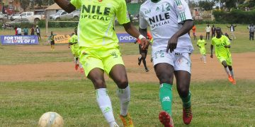 UFL top scorer, Lino Agaba (MUST) in action against Kabale University