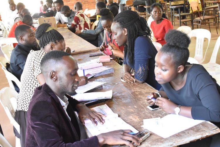 UCU students reading at the university