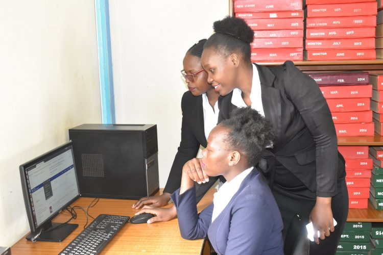 UCU Students in the Library