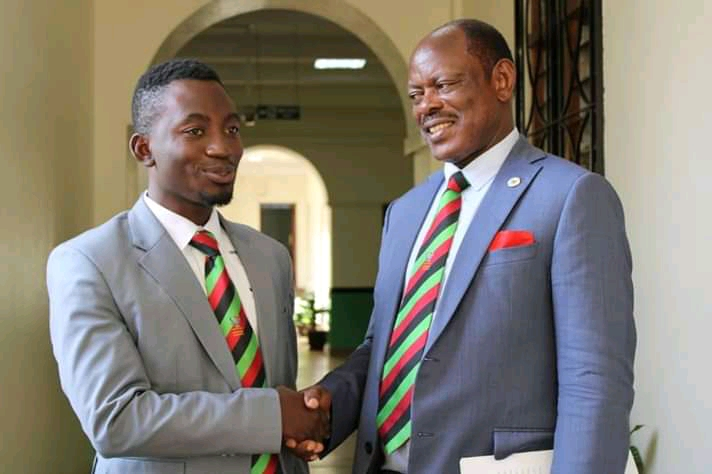 Mufano, with Makerere Vice Chancellor Prof Nawangwe