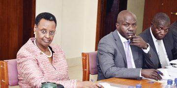 Janet Museveni with PS Alex Kakooza