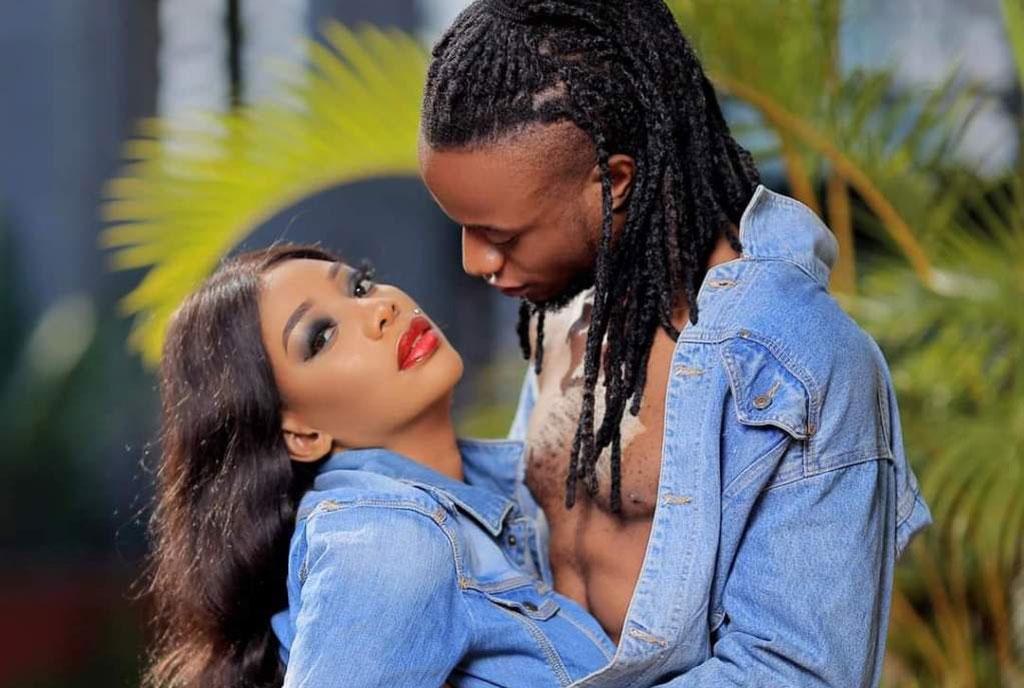 Bad Black embracing with boyfriend Asha