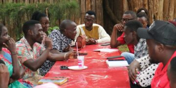 Makerere University NUP Chapter members during the meeting