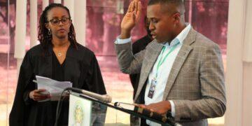 Anthony Manyara (Kenya) taking oath as new EASU President